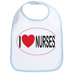 I Love Nurses Bib