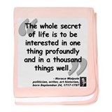 Walpole Secret Quote baby blanket