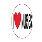 I Love Nurses Postcards (Package of 8)