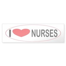 I Love Nurses Bumper Bumper Sticker