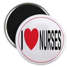 "I Love Nurses 2.25"" Magnet (100 pack)"
