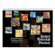 Abstract Watercolor Wall Calendar