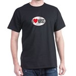 I Love Nurses Black T-Shirt