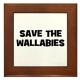 Save The Wallabies Framed Tile