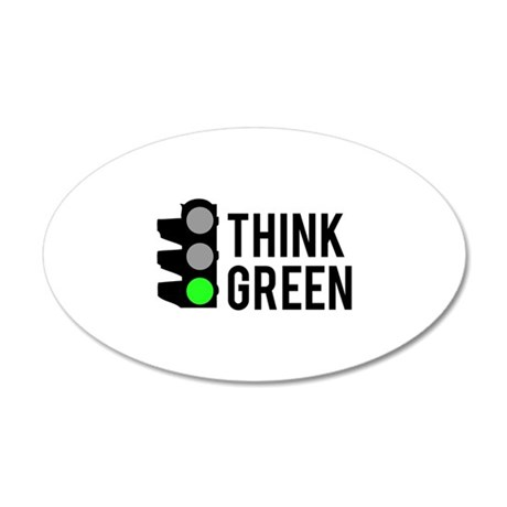 Think Green 38.5 x 24.5 Oval Wall Peel