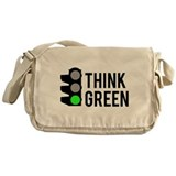 Think Green Messenger Bag