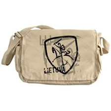 Distressed Vytis and Lietuva Messenger Bag