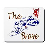 Scottish white football boots Mousepad