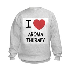 I heart aroma therapy Kids Sweatshirt