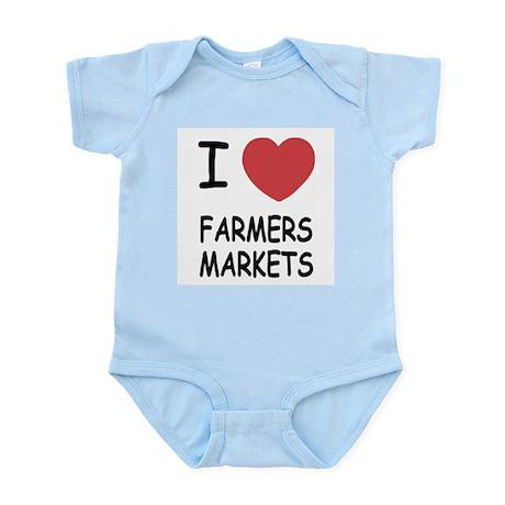 I heart farmers markets Infant Bodysuit