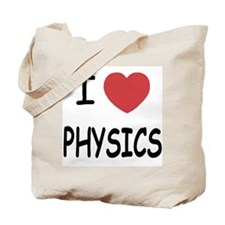 I heart physics Tote Bag