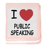 I heart public speaking baby blanket