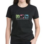 Peace, Love, Cairn Terriers Women's Dark T-Shirt
