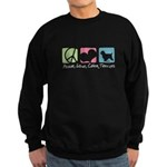 Peace, Love, Cairn Terriers Sweatshirt (dark)