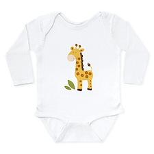 Cute Giraffe Long Sleeve Infant Bodysuit