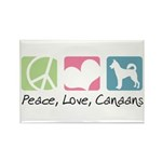 Peace, Love, Canaans Rectangle Magnet (100 pack)