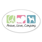 Peace, Love, Canaans Sticker (Oval 50 pk)