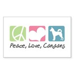 Peace, Love, Canaans Sticker (Rectangle 10 pk)