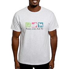 Peace, Love, Shar-Pei T-Shirt
