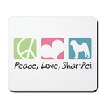 Peace, Love, Shar-Pei Mousepad