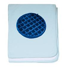 Blue Waffle baby blanket