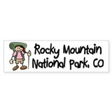Hike Rocky Mtns (Girl) Bumper Sticker