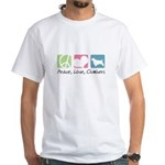 Peace, Love, Clumbers White T-Shirt