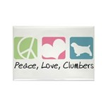 Peace, Love, Clumbers Rectangle Magnet (100 pack)
