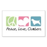 Peace, Love, Clumbers Sticker (Rectangle 10 pk)