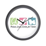 Peace, Love, Coton de Tulear Wall Clock