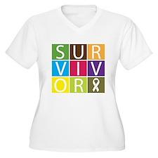 Lung Cancer Survivor Tile T-Shirt