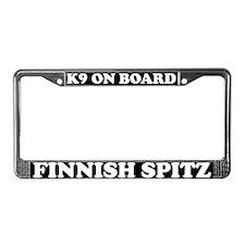 K9 On Board Finnish Spitz License Plate Frame
