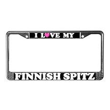 I Love My Finnish Spitz License Plate Frame