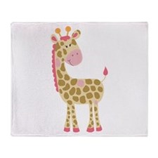 Jungle Jill Pink Giraffe Throw Blanket