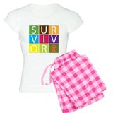 Leukemia Survivor Tile pajamas