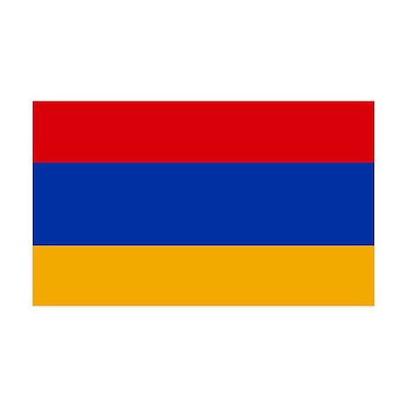 Flag of Armenia 35x21 Wall Decal