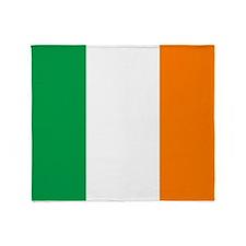 Irish flag of Ireland Throw Blanket