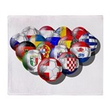 European Soccer Football Throw Blanket
