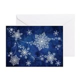 Swirling Snowflakes Greeting Cards (Pk of 10)