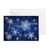 Swirling Snowflakes Greeting Card
