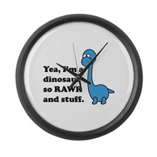 Dino Rawr Large Wall Clock