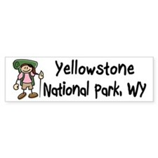 Hike Yellowstone (Girl) Bumper Sticker