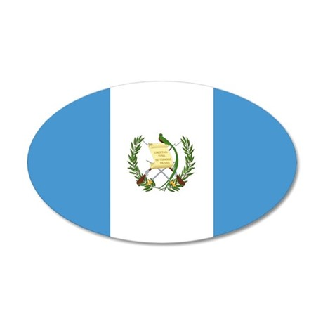 Flag of Guatemala 35x21 Oval Wall Decal