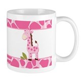 Cute Pink Giraffe Small Mug