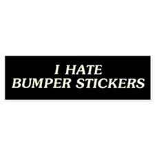 I Hate Bumper Bumper Stickers Bumper Bumper Sticker