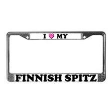 I Heart My Finnish Spitz License Plate Frame