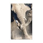 Elephant Dust Bath Sticker (Rectangle 50 pk)