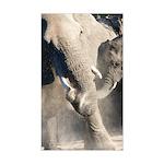 Elephant Dust Bath Sticker (Rectangle)