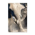 Elephant Dust Bath Mini Poster Print