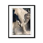 Elephant Dust Bath Framed Panel Print